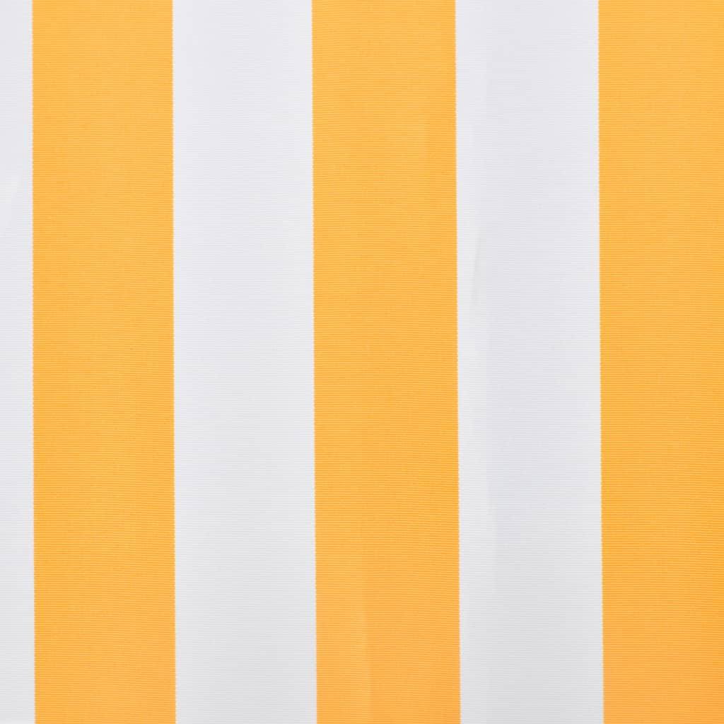 vidaXL Sonnenschutz Gelb & Weiß 3 x 2, 5 m (Rahmen nicht enthalten ...