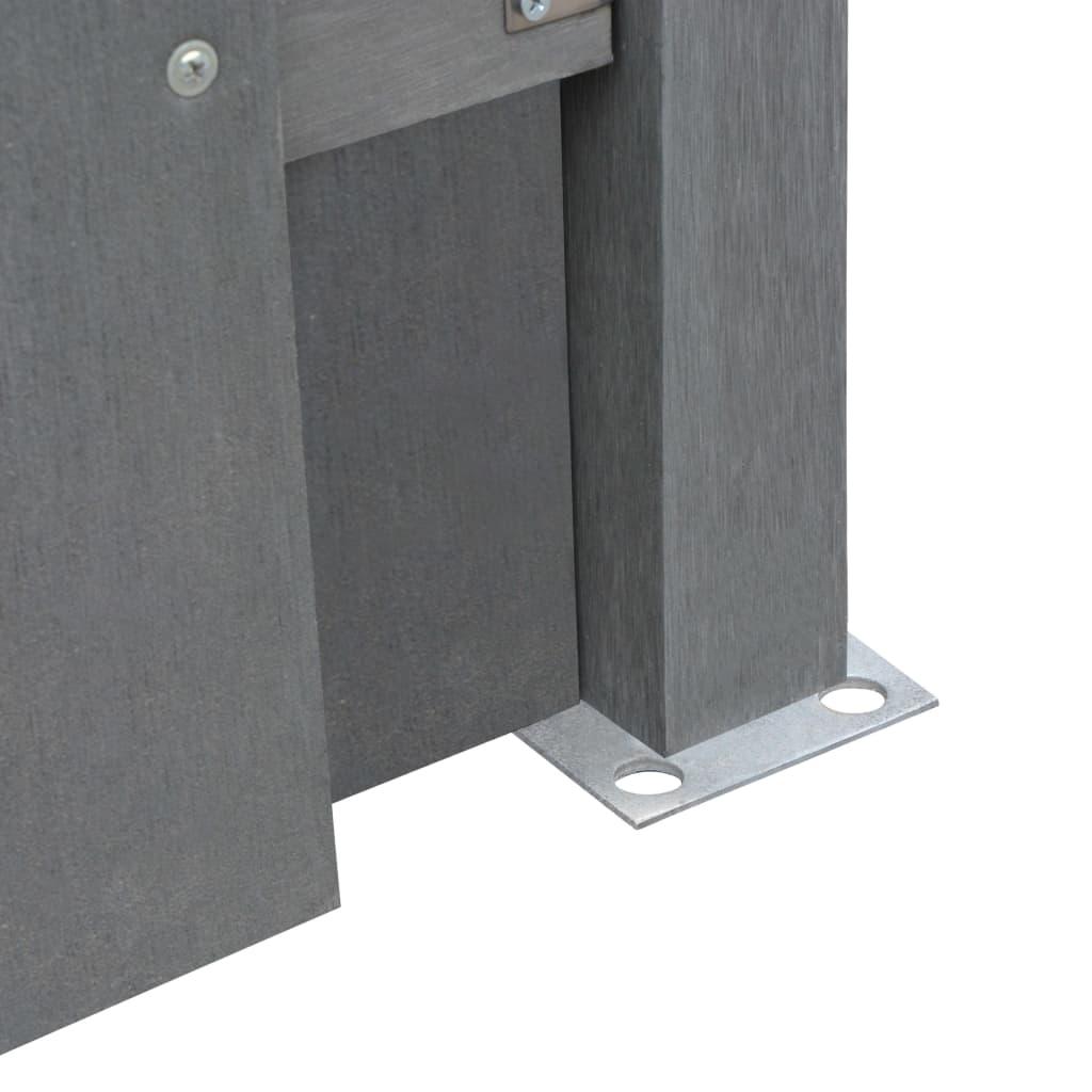 VidaXL Ersatz-Zaunelement WPC 180 x 180 cm cm cm Quadratisch Grau d26ed6