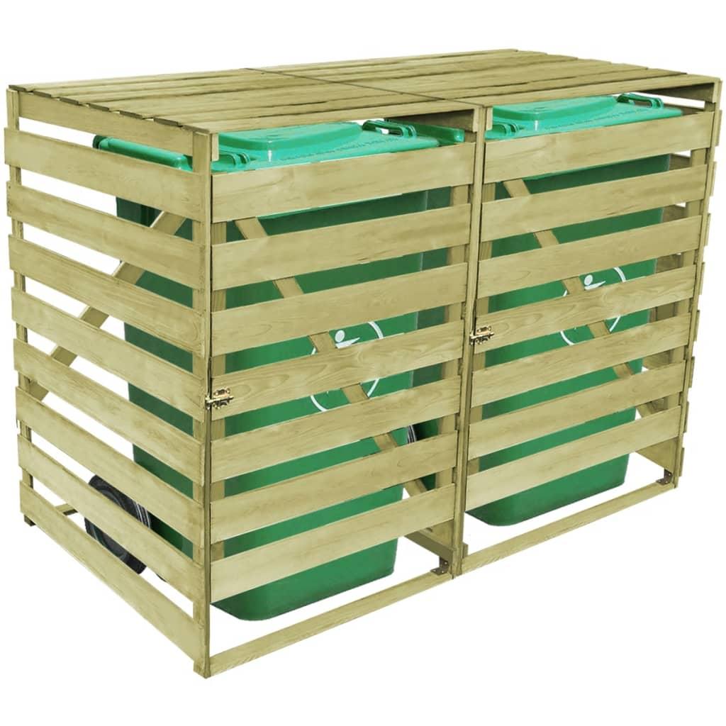 vidaxl mülltonnenbox 2 tonnen imprägniertes holz 240 l - kaufen bei