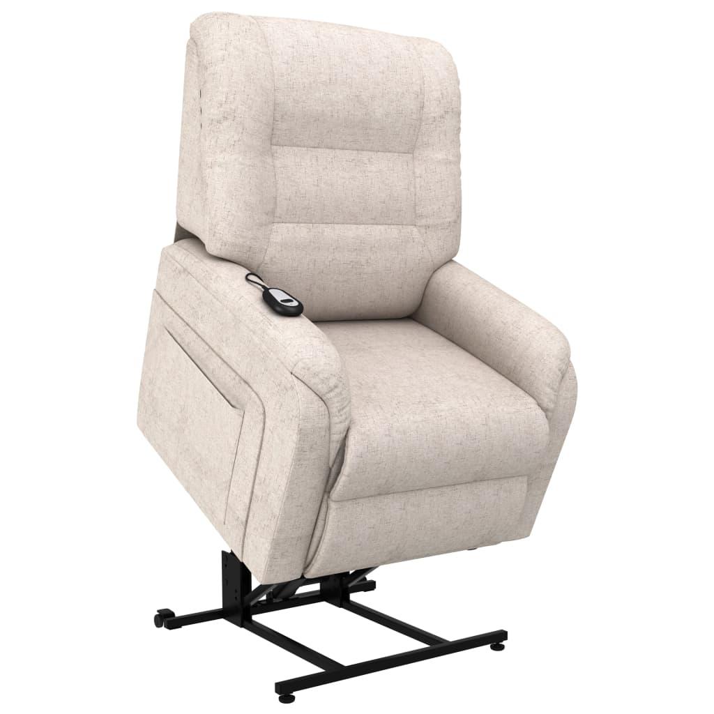 vidaXL TV-Sessel mit Aufstehhilfe Elektrisch Creme Stoff ...