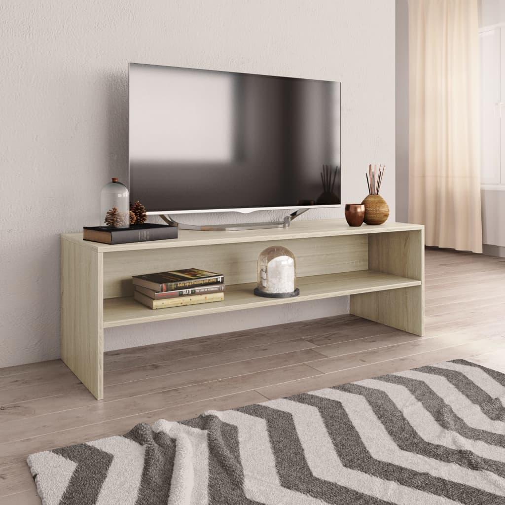 Vidaxl Tv Schrank Weiss Sonoma Eiche 120 X 40 X 40 Cm Spanplatte