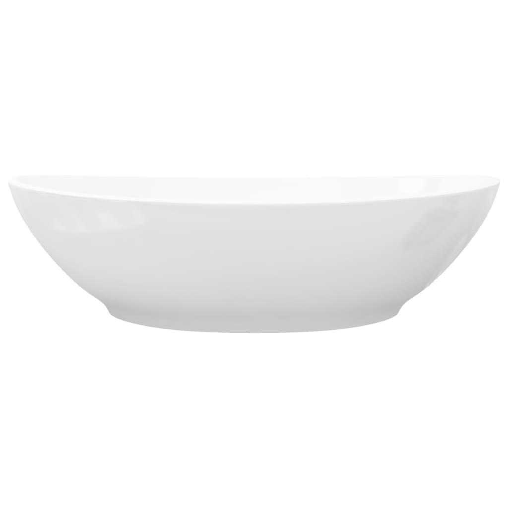 Keramik Waschtisch Waschbecken Oval Weiss 40 X 33 Cm Kaufen Bei