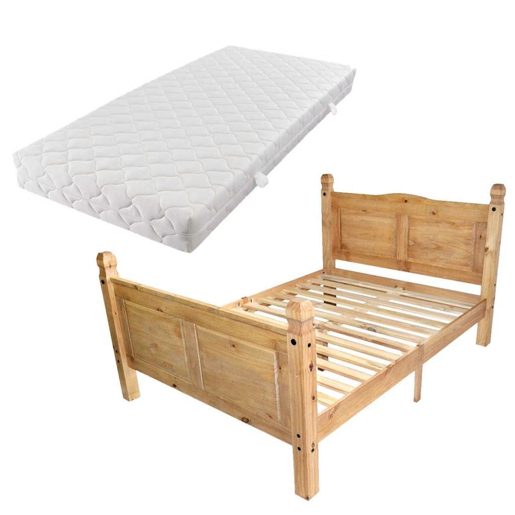 Faszinierend Bett Größe Galerie Von Vidaxl Mit Matratze Mexikanische Kiefer Corona Größe