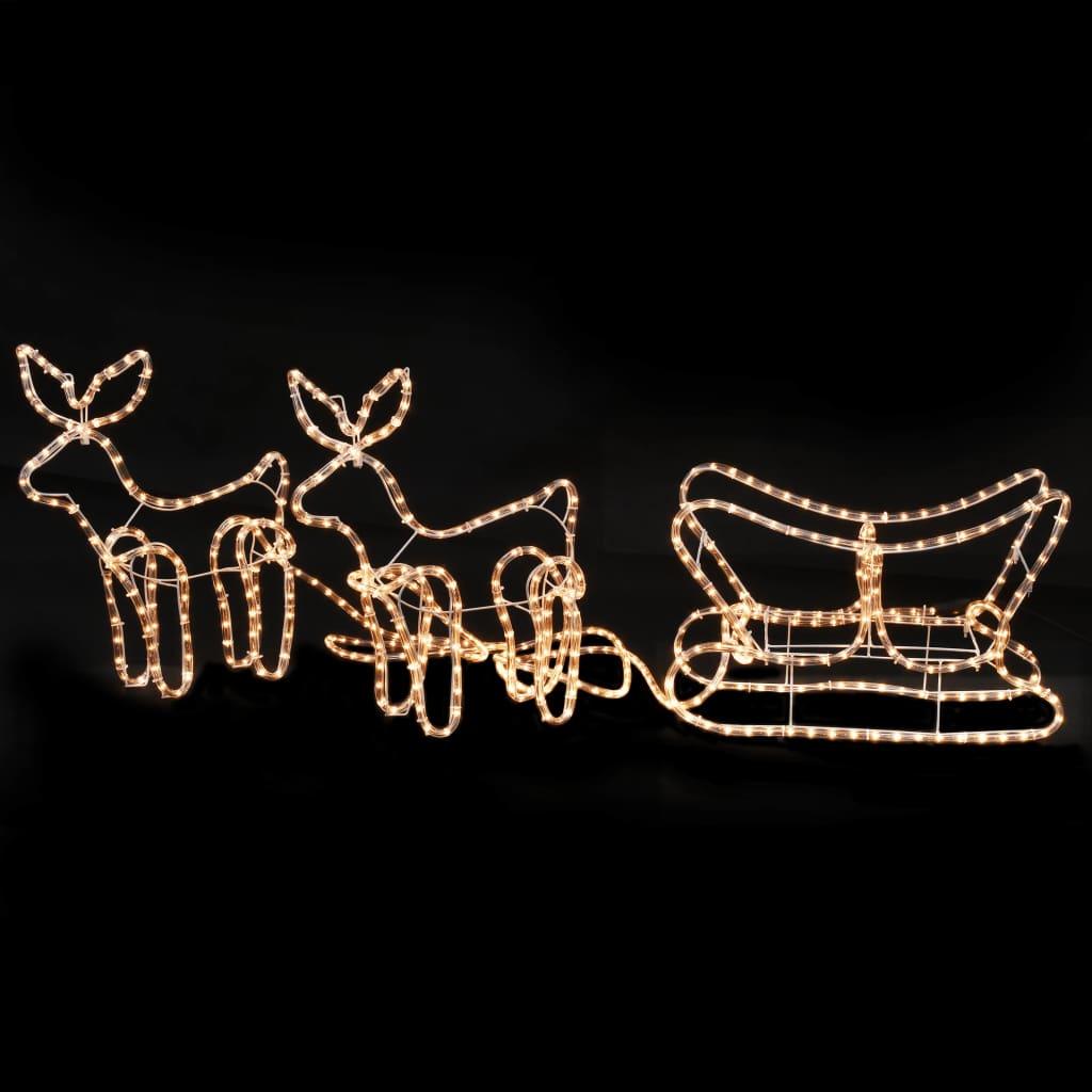 Weihnachtsbeleuchtung Schlitten.Vidaxl Weihnachtsbeleuchtung 2 Rentiere Und Schlitten 300 24 47 Cm