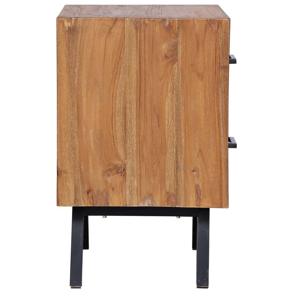 Nachttisch 40 x 35 x 55 cm Massivholz Teak