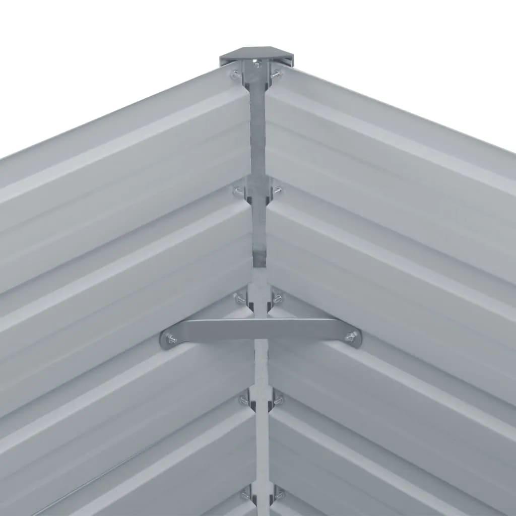 Vidaxl Hochbeet 160 X 80 X 77 Cm Verzinkter Stahl Grau Kaufen Bei
