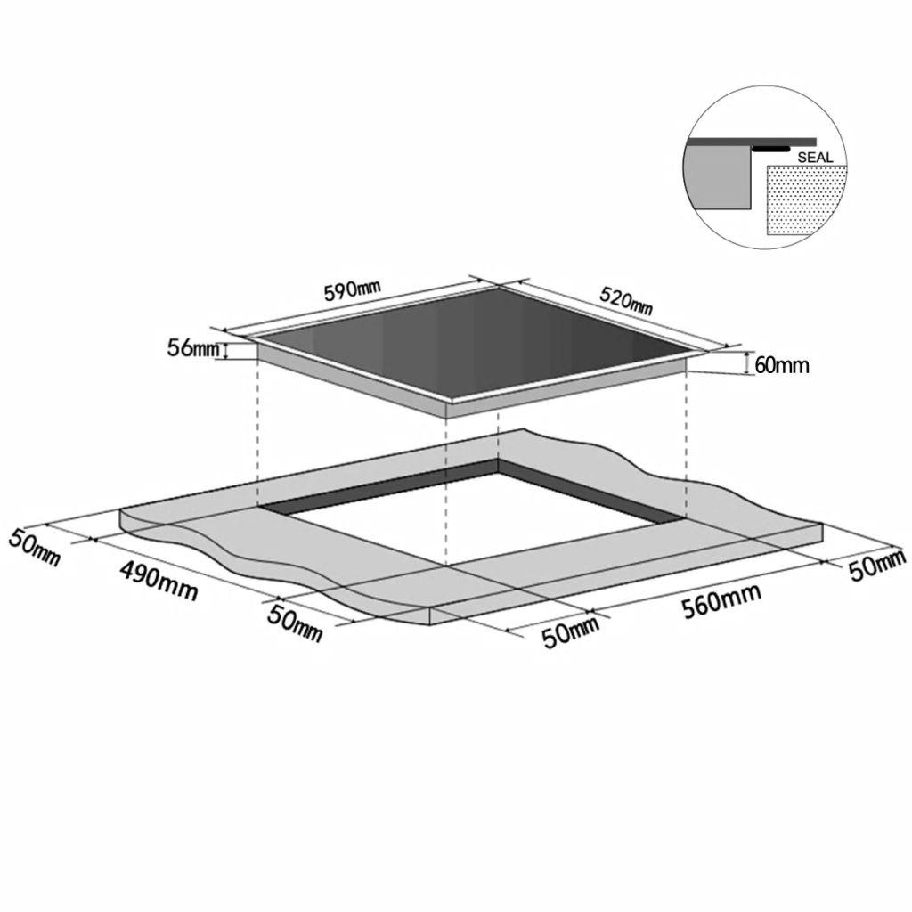 Vidaxl Einbau Induktionskochfeld Mit 4 Kochplatten Eurokera Glas