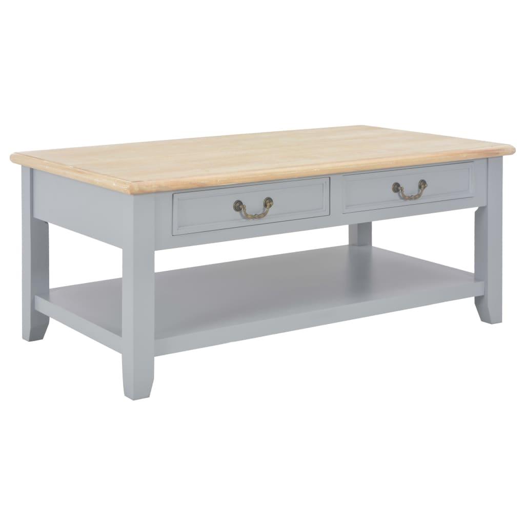 vidaXL Couchtisch Grau 100x55x40 cm Holz