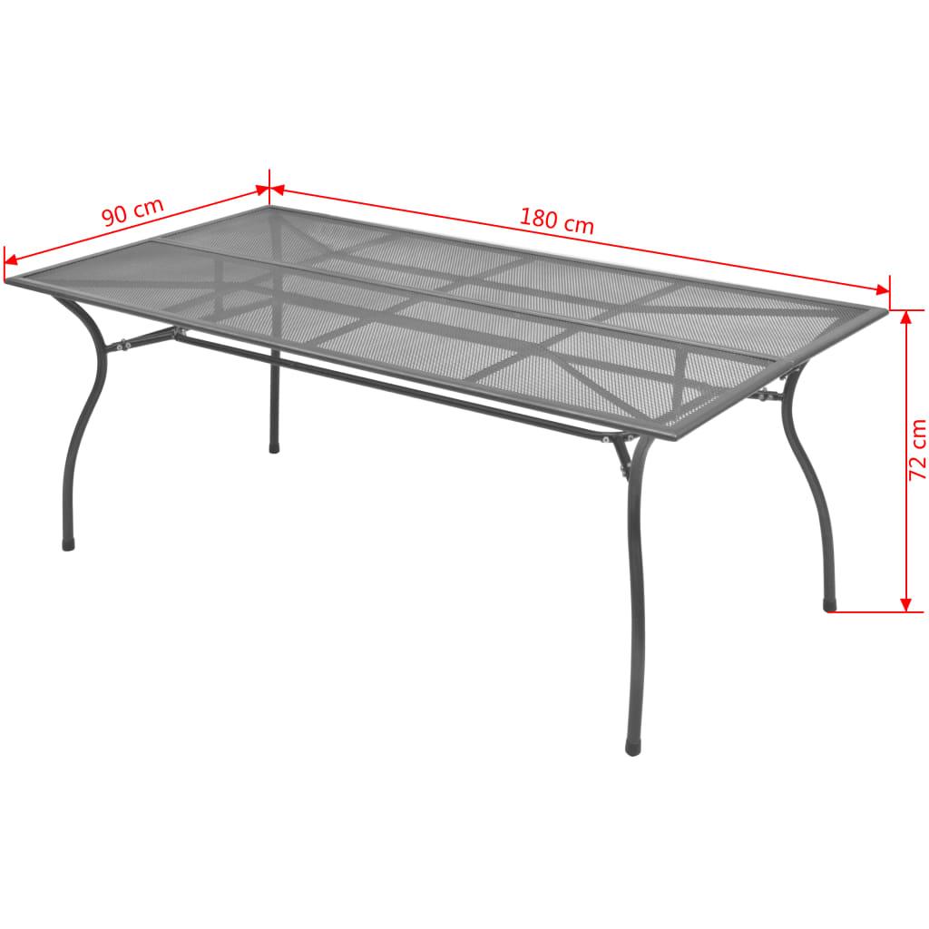 VidaXL Garten-Esstisch Stahlgeflecht 180 x 90 x 72 72 72 cm 94144f