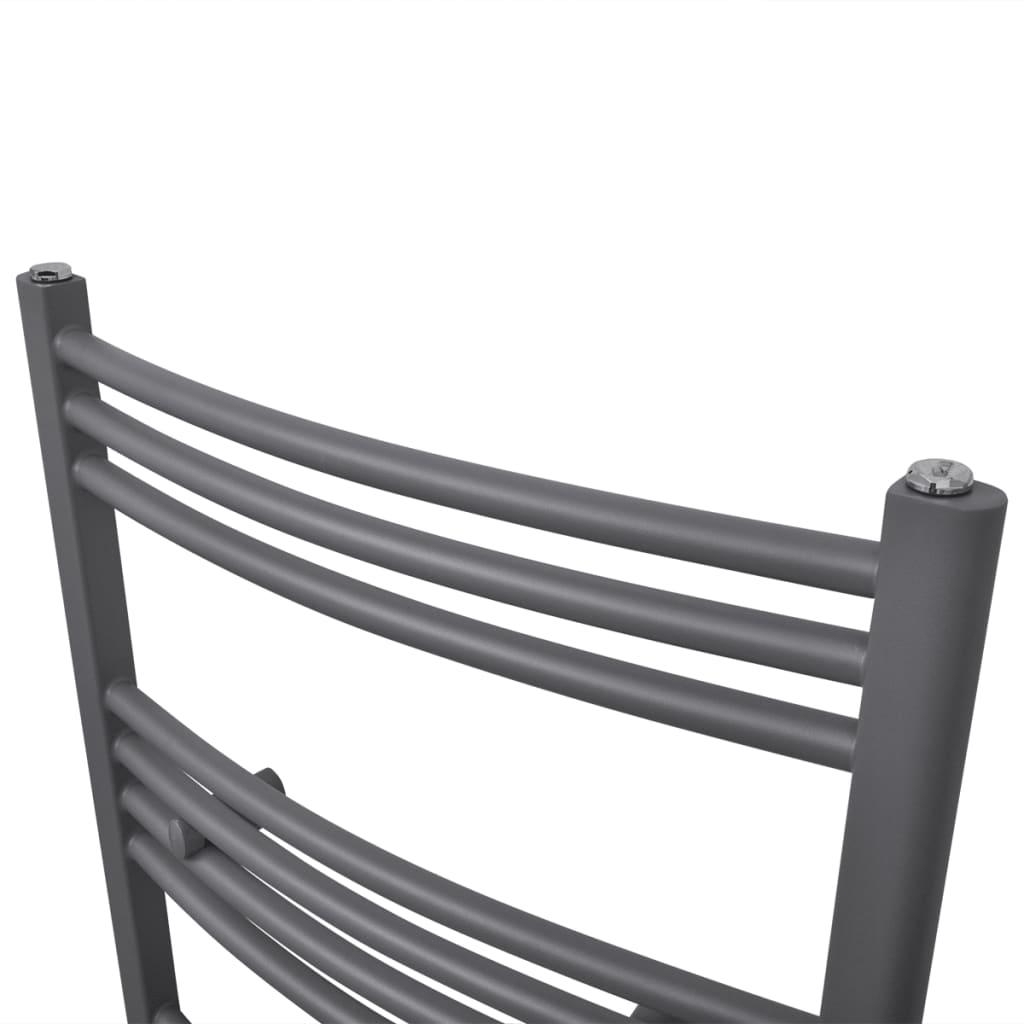 Badheizkörper Handtuchhalter gebogene Rohre Grau 500