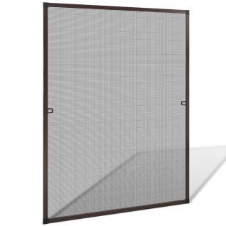 Insektengitter für Fenster 100 x 120 cm braun