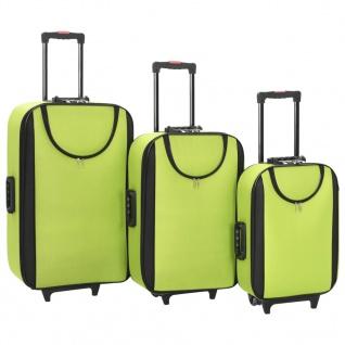 vidaXL Weichgepäck Trolley-Set 3-tlg. Grün Oxford-Gewebe