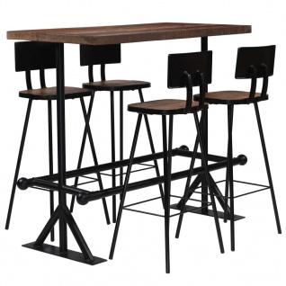 vidaXL Bar-Set 5-tlg. Massives Altholz