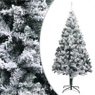 vidaXL Künstlicher Weihnachtsbaum Beschneit Grün 240 cm PVC