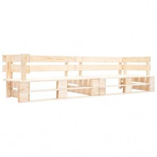 vidaXL Garten-Palettensofa 2-Sitzer Natur Holz
