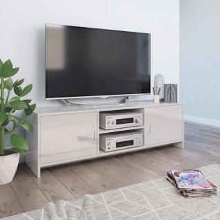 vidaXL TV-Schrank Hochglanz-Weiß 120 x 30 x 37, 5 cm Spanplatte
