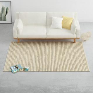 vidaXL Teppich Hanf Wolle 140×200 cm Natur/Weiß