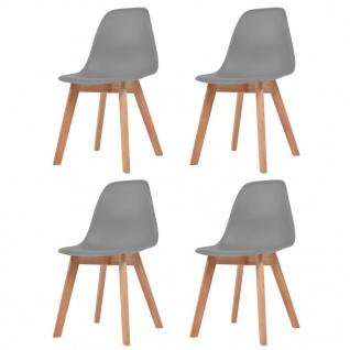 vidaXL Esszimmerstühle 4 Stück Grau
