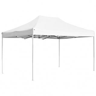 vidaXL Profi-Partyzelt Faltbar Aluminium 4, 5x3 m Weiß