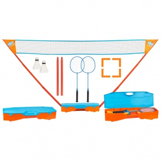 Get & Go Badminton-Set Blau und Orange