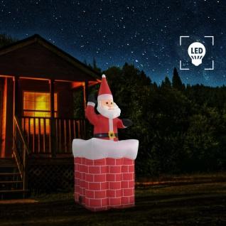 vidaXL Weihnachtsmann im Kamin Automatische Bewegung LED IP44 180 cm