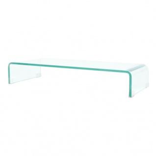 vidaXL TV-Tisch/Bildschirmerhöhung Glas Transparent 80x30x13 cm