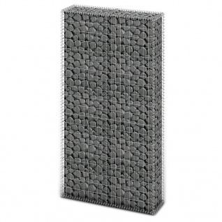 vidaXL Gabionen-Steinkorb Stahl 85×30×200 cm Silbern