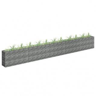 vidaXL Gabionen-Hochbeet Verzinkter Stahl 450×30×60 cm