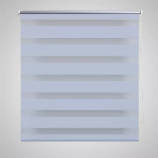 Doppelrollo Seitenzug 100 x 175 cm weiß