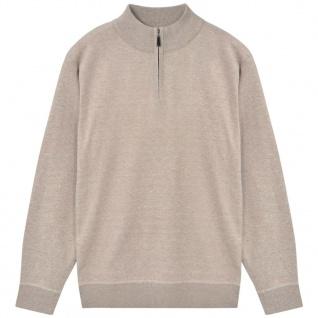 vidaXL Herren Pullover Sweater mit Reißverschluss Beige M