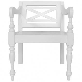 vidaXL Batavia-Stühle 2 Stk. Weiß Mahagoni Massivholz - Vorschau 3