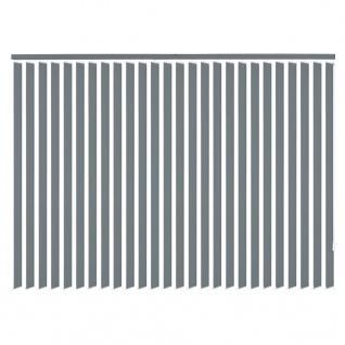 vidaXL Vertikale Jalousien Grau Stoff 120x250 cm - Vorschau 3