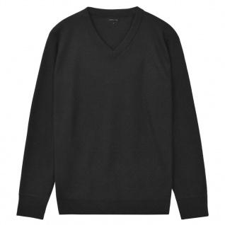 vidaXL Herren Pullover Sweater V-Ausschnitt Schwarz XL