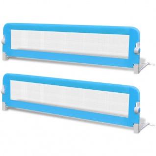 vidaXL Kleinkind Bettschutzgitter 2 Stück Blau 150 x 42 cm - Vorschau 2