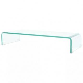 vidaXL TV-Tisch/Bildschirmerhöhung Glas Transparent 70x30x13 cm