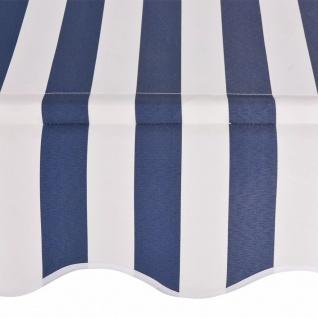 vidaXL Einziehbare Markise Handbetrieben 300 cm Blau/Weiß Gestreift - Vorschau 3