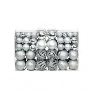 vidaXL 100-tlg. Weihnachtskugel-Set 6 cm Silbern