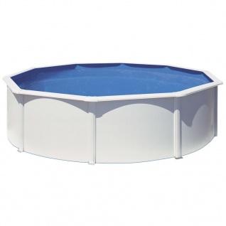 Gre Pool-Set Azores Rund Weiß 460cm KITPR458