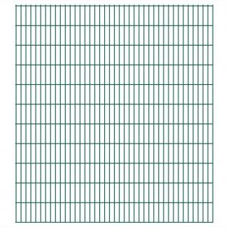 vidaXL 2D Gartenzaun-Elemente 2, 008x2, 23 m Gesamtlänge 40 m Grün