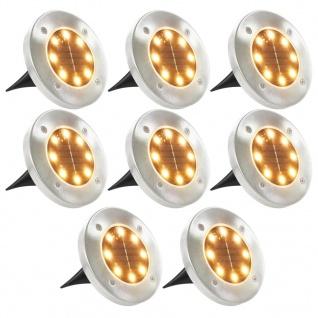 vidaXL Solar-Bodenleuchten 8 Stk. LED-Leuchtmittel Warmweiß