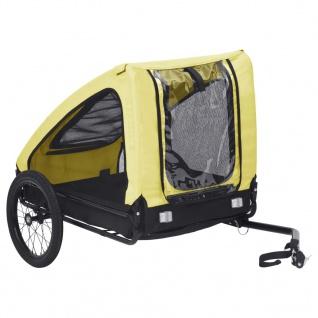 vidaXL Fahrradanhänger für Haustiere Gelb und Schwarz