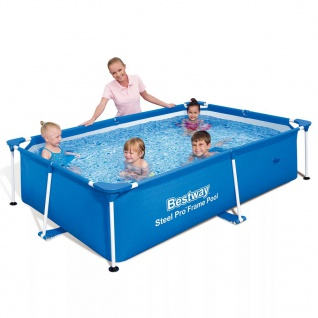 Bestway Steel Pro Schwimmbecken mit Stahlrahmen 221×150×43 cm 56401