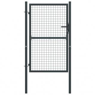 vidaXL Mesh-Gartentor Verzinkter Stahl 100 x 225 cm Grau