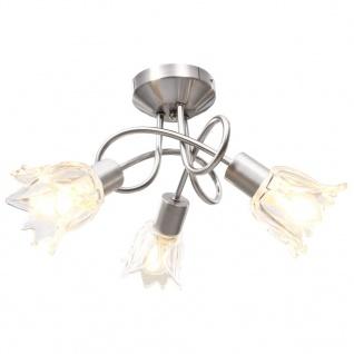 vidaXL Deckenleuchte Glas-Lampenschirme für 3 E14 Glühlampen