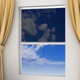 Weißes aufrollbares Insektengitter für Fenster 120 x 170 cm