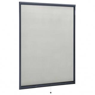 vidaXL Insektenschutzrollo für Fenster Anthrazit 130x170 cm