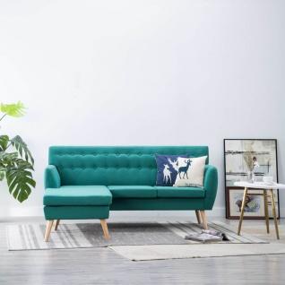 vidaXL Sofa in L-Form Stoffbezug 171, 5 x 138 x 81, 5 cm Grün