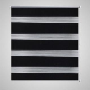 Doppelrollo 120 x 230 cm schewarz