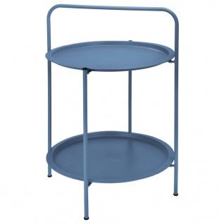 ProGarden Tisch Rund 50x66 cm Matt-Blau