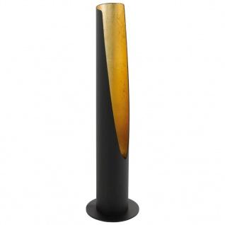 EGLO LED-Tischleuchte Barbotto 5W 39, 5 cm Schwarz und Golden